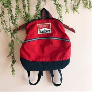 Marlboro Unlimited Red Vintage Backpack